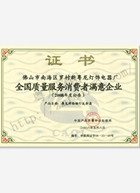 粤龙照明消费者满意企业证书